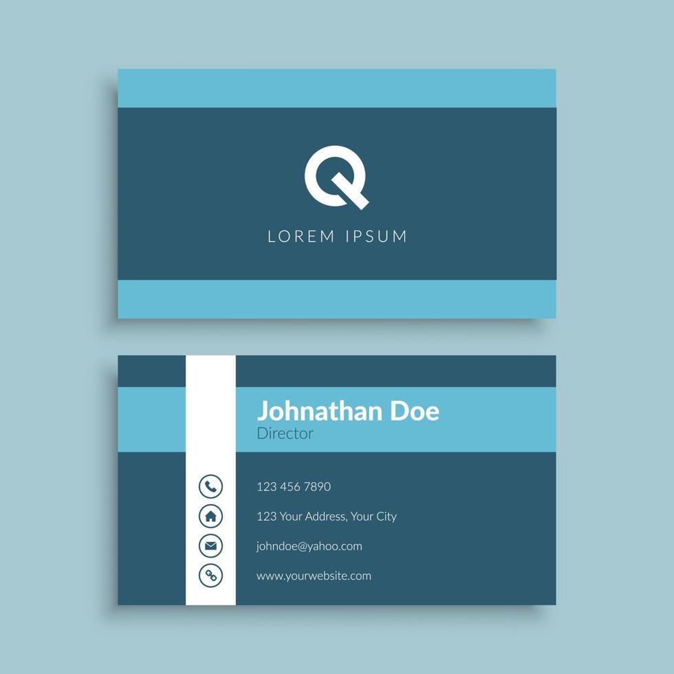 minimalistisk företags visitkortsmall vektor