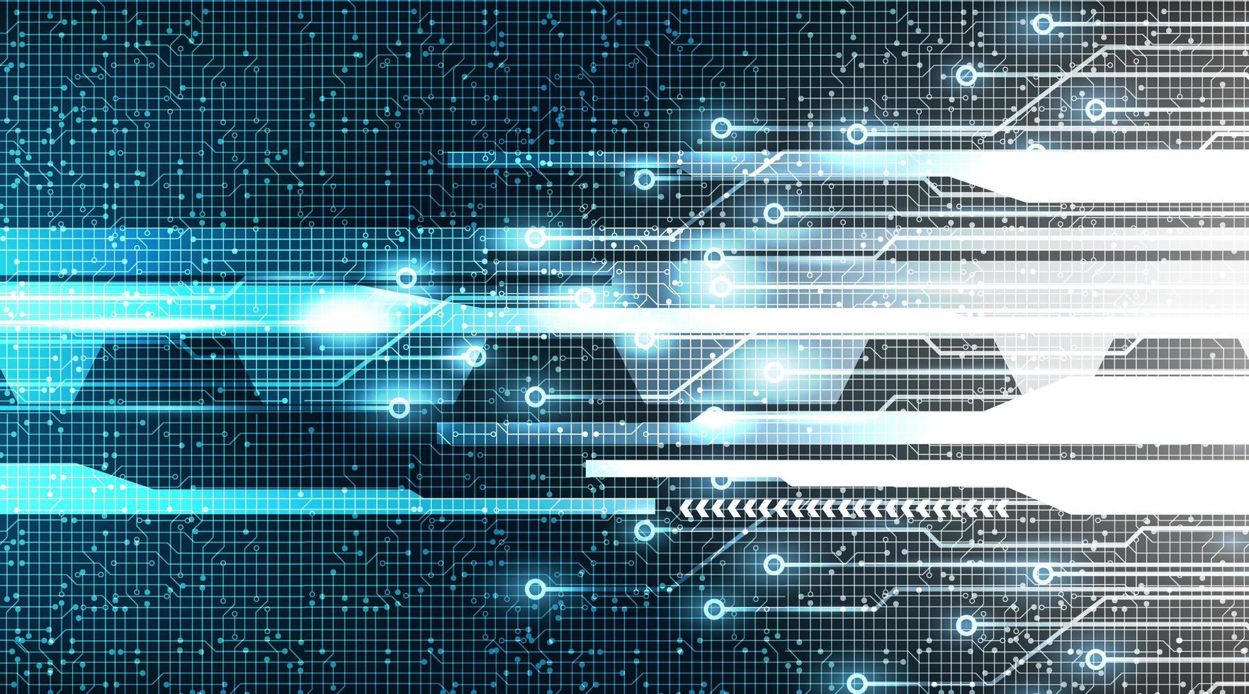 digital cyberlinje på teknikbakgrund vektor