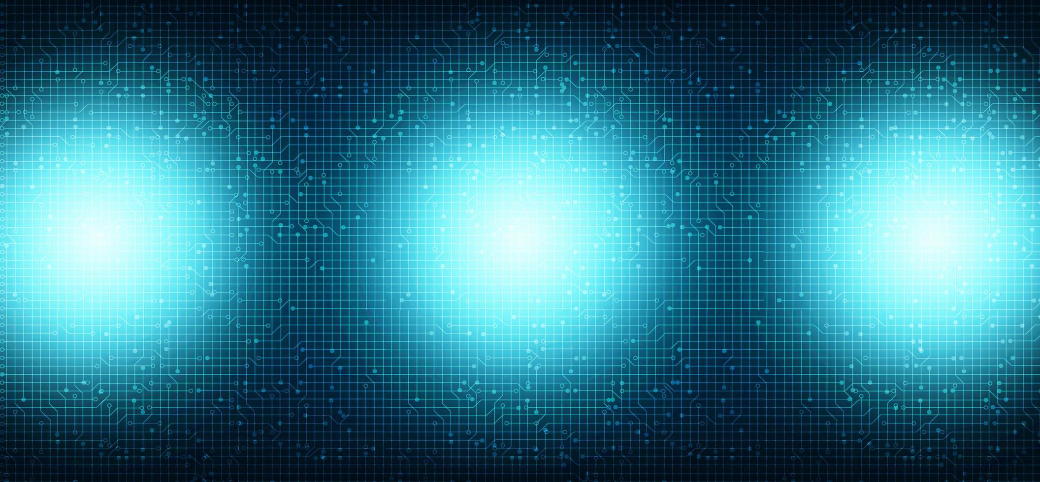 blått ljus på teknikbakgrund vektor