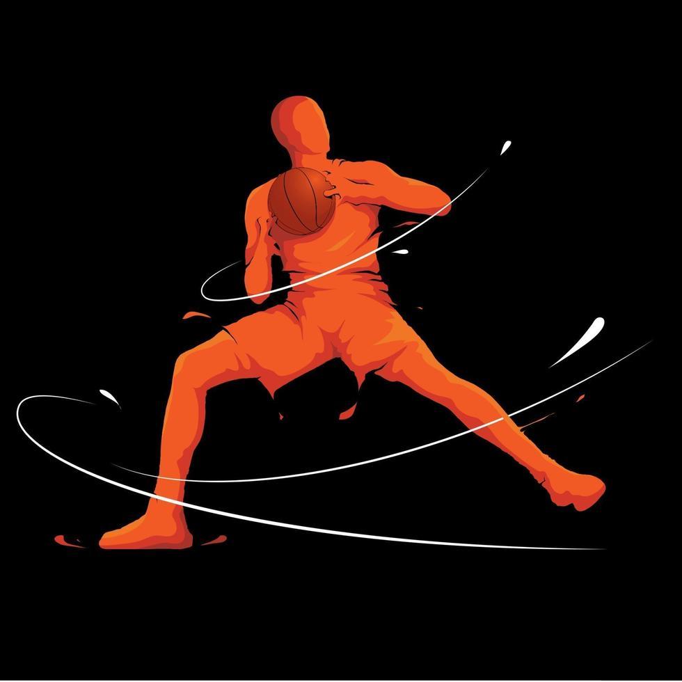 basketboll försvar position vektor