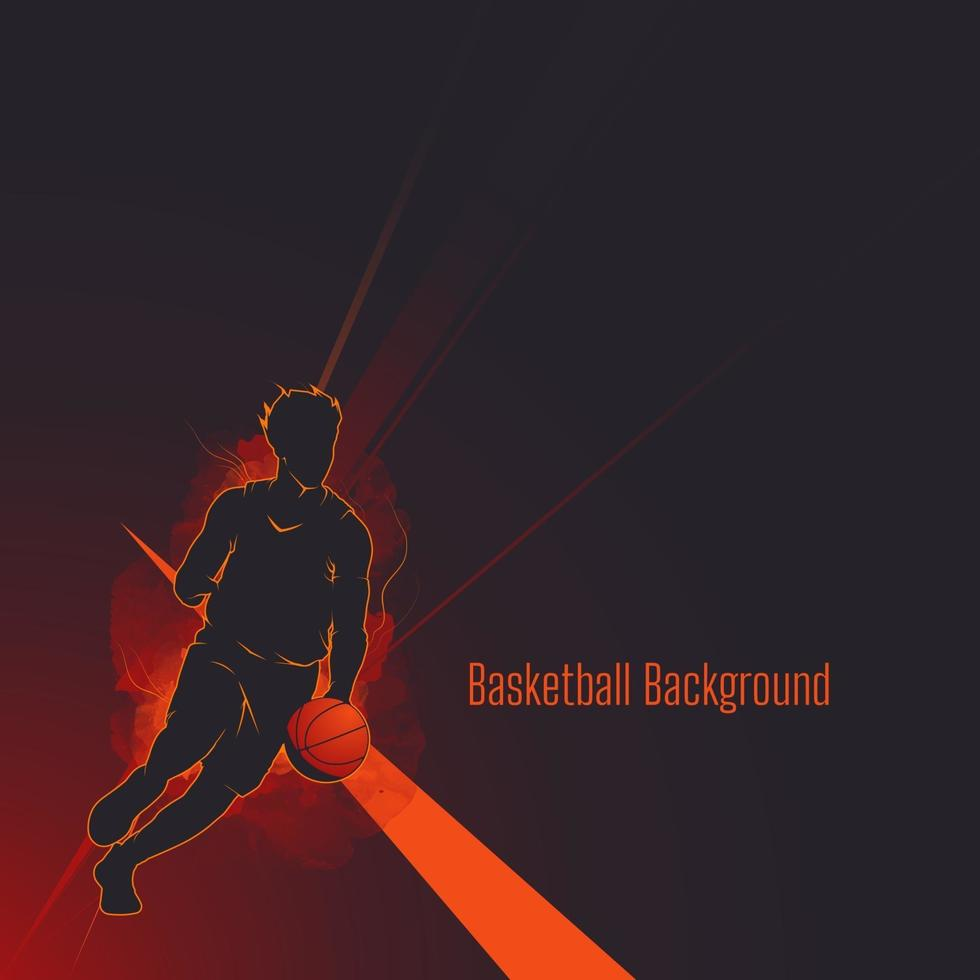 basket silhuett skugga bakgrund vektor