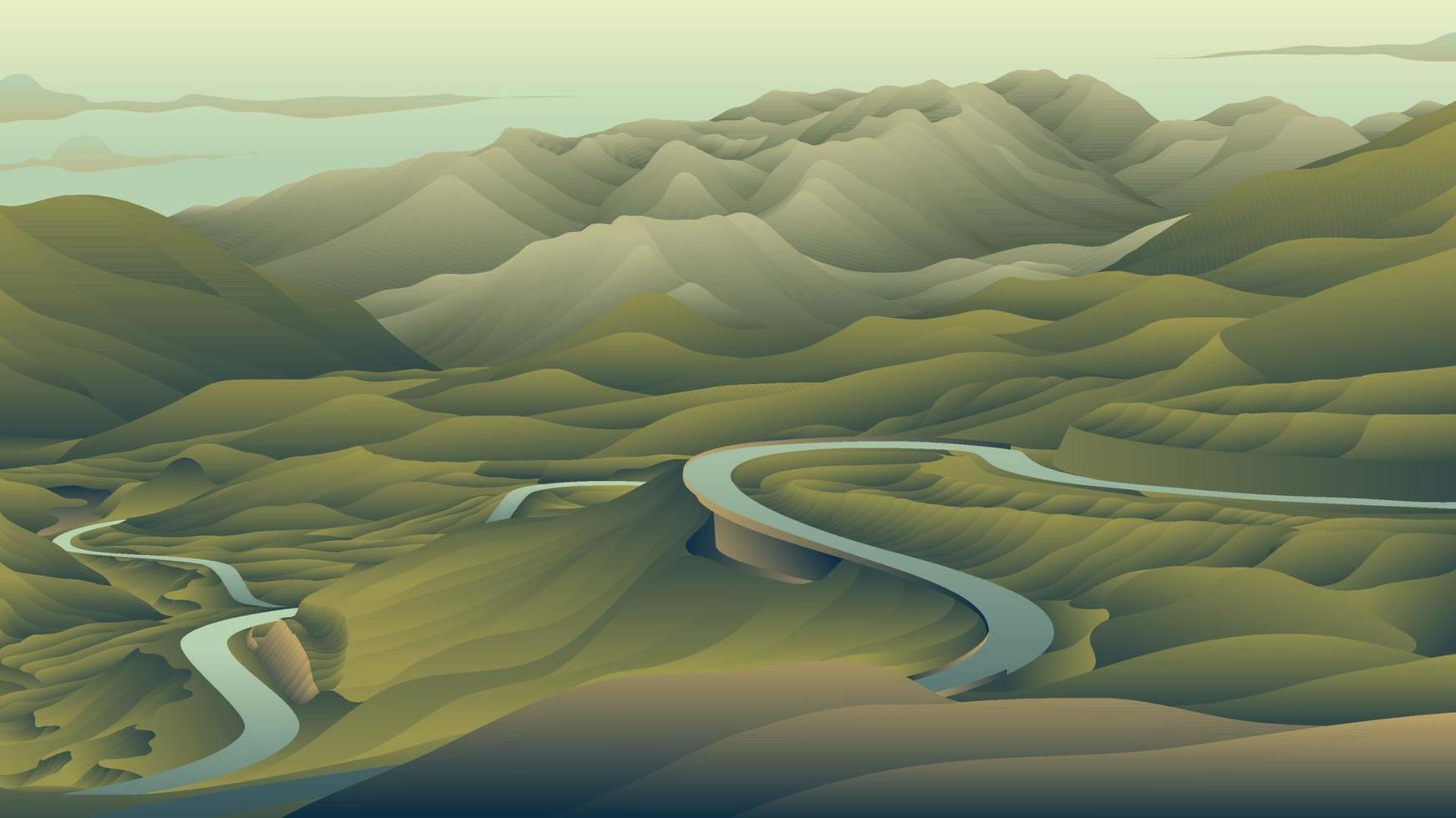 grönt landskap bakgrund vektor