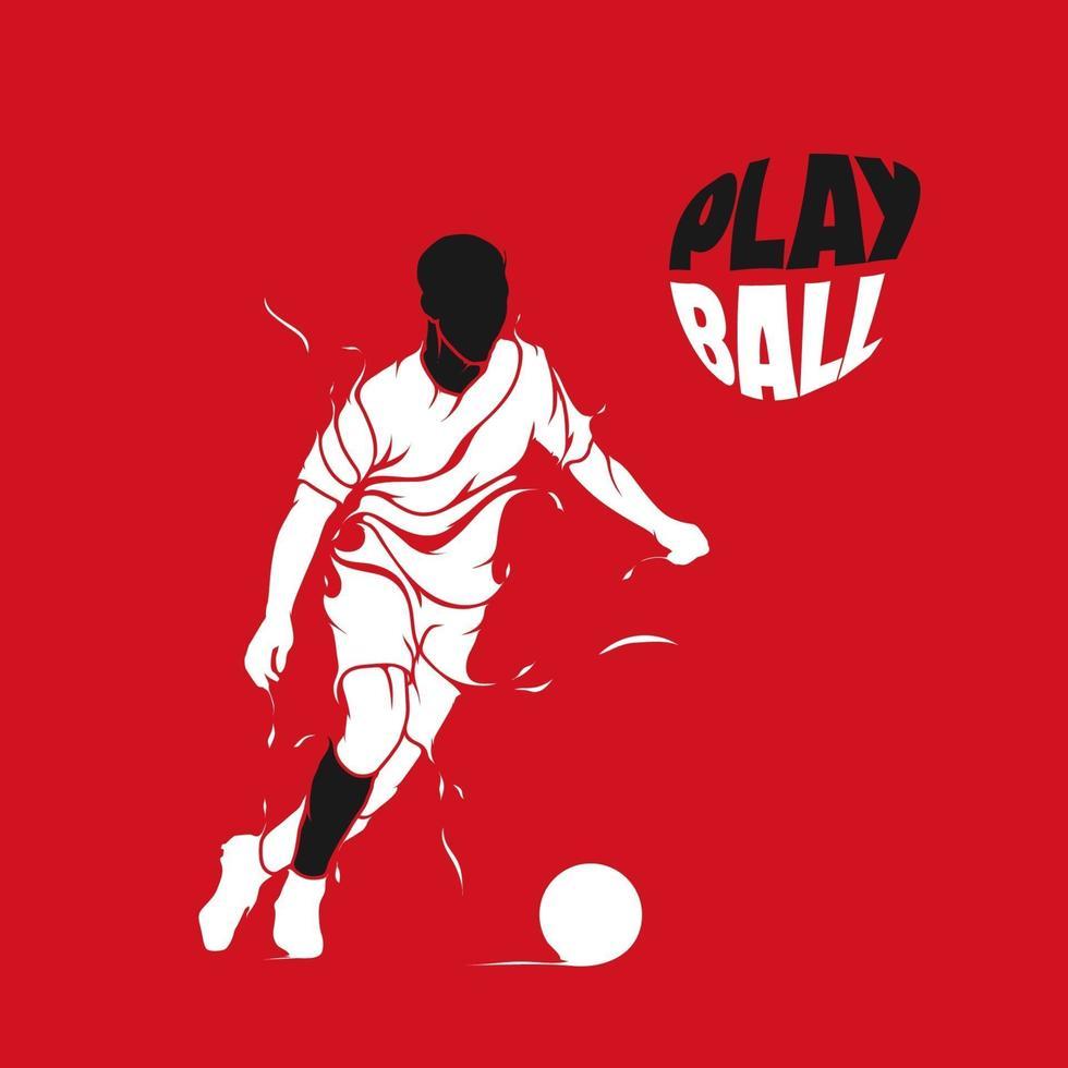 fotboll stänk silhuett vektor