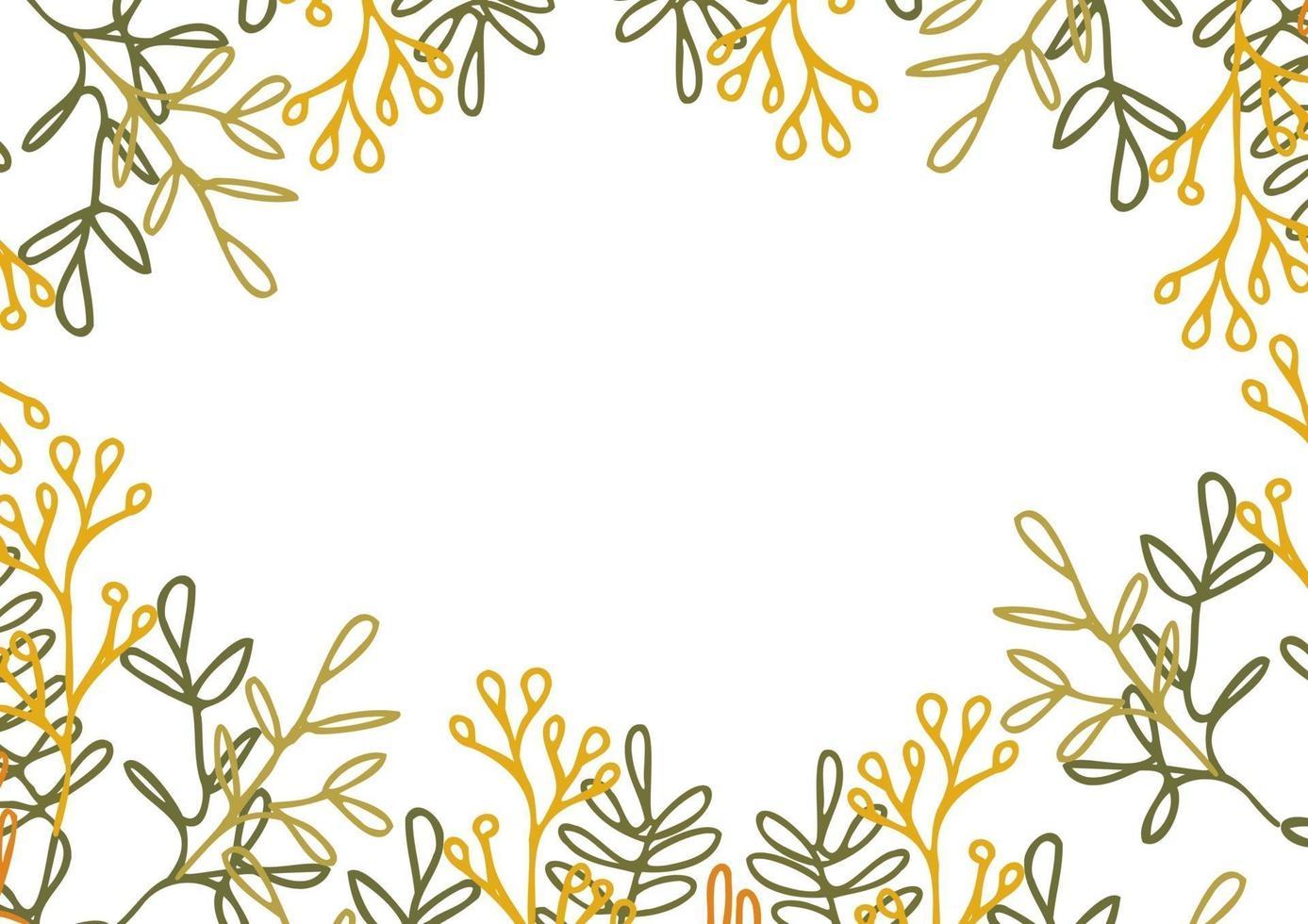 blommig ram ram mall. bakgrund med kopieringsutrymme för text. vektor