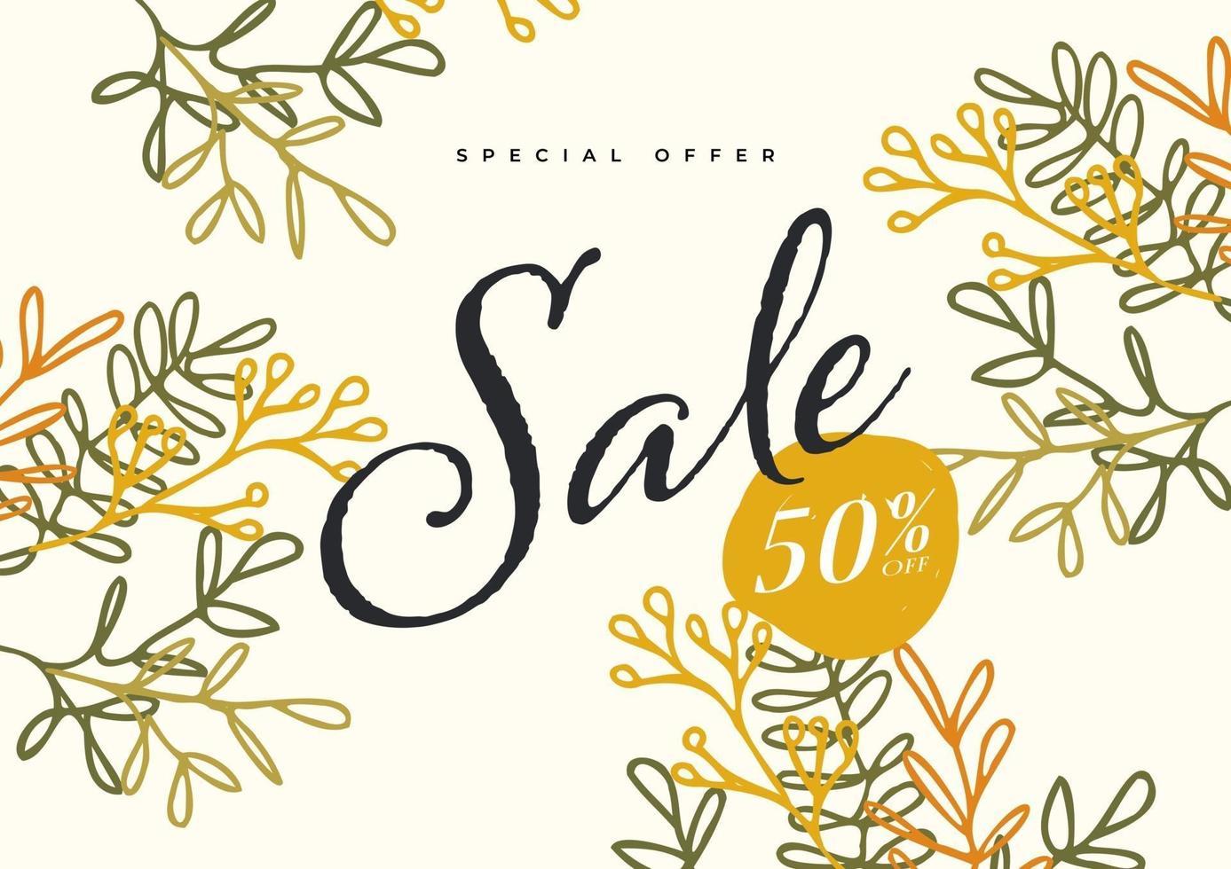 försäljning banner mall. elegant blommig bakgrund. marknadsföring fyrkantig webb banner. vektor