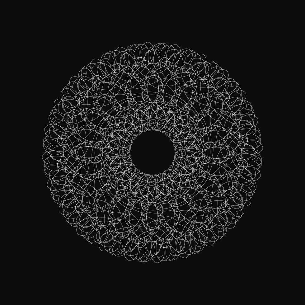 webbcirkel geometrisk prydnad vektor grafisk vit färg