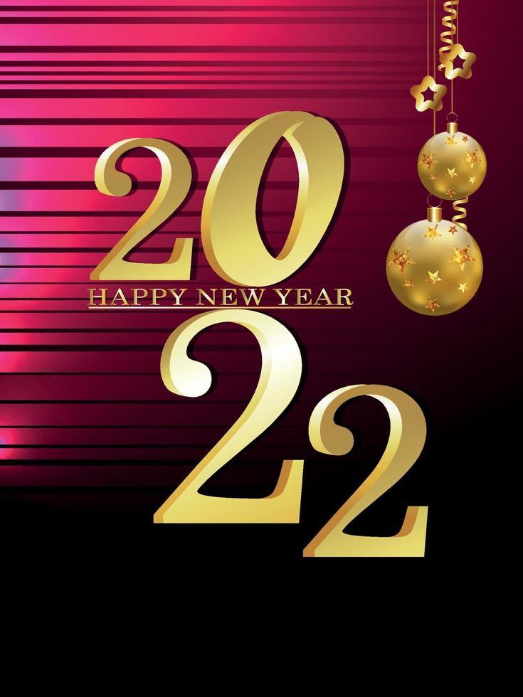 firande reklamblad för gott nytt år på kreativ bakgrund vektor