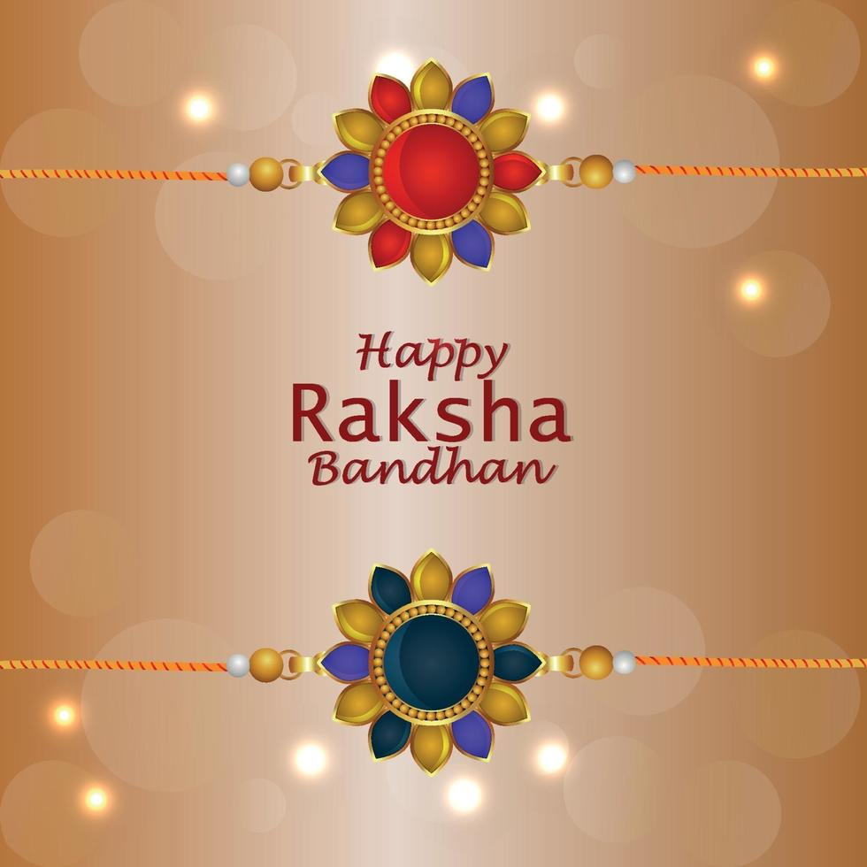 glad raksha bandhan inbjudningskort med kreativa gåvor vektor