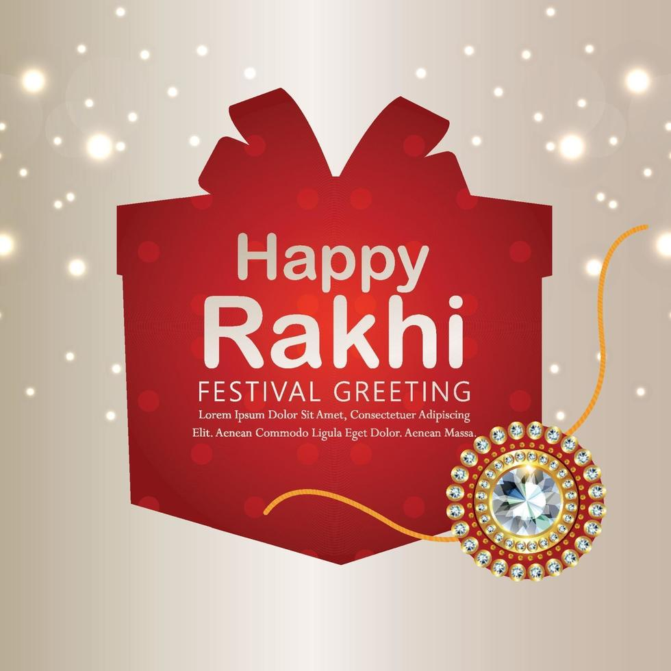 glückliche Raksha Bandhan Feier Grußkarte vektor
