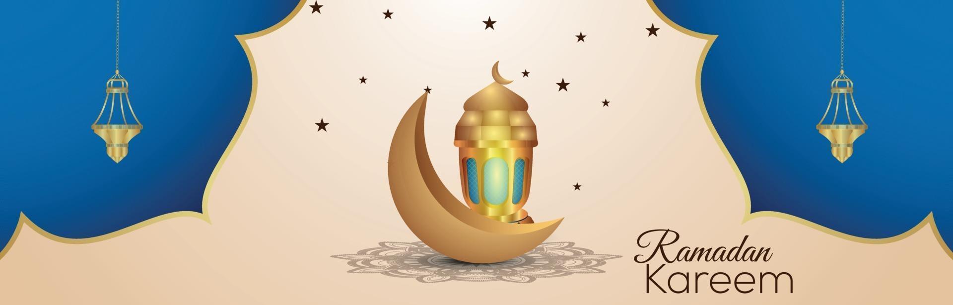 ramadan kareem islamisk festivalinbjudanbakgrund vektor