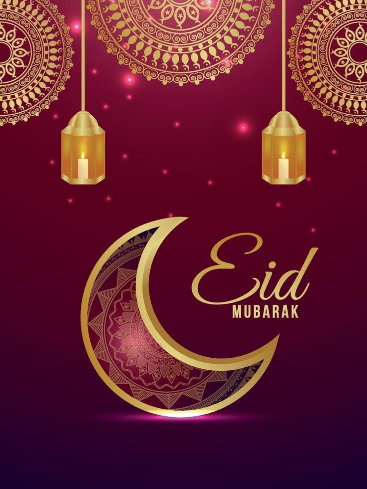 eid mubarak firande part flyer vektor