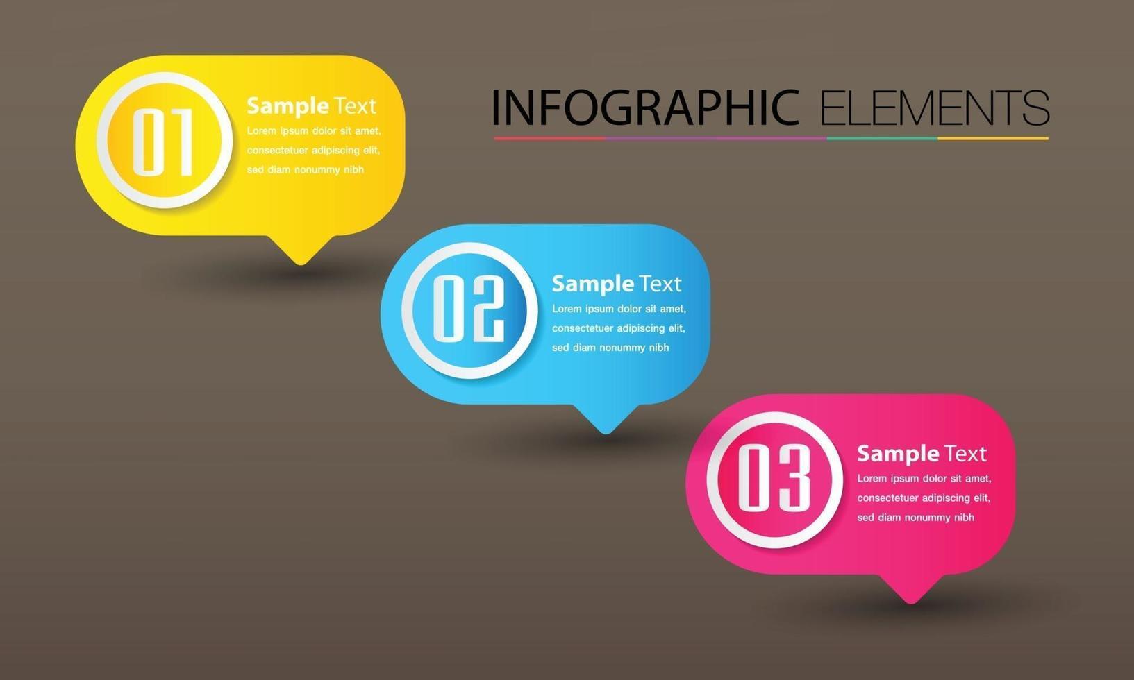 modern textrutmall, bannerinfographics vektor