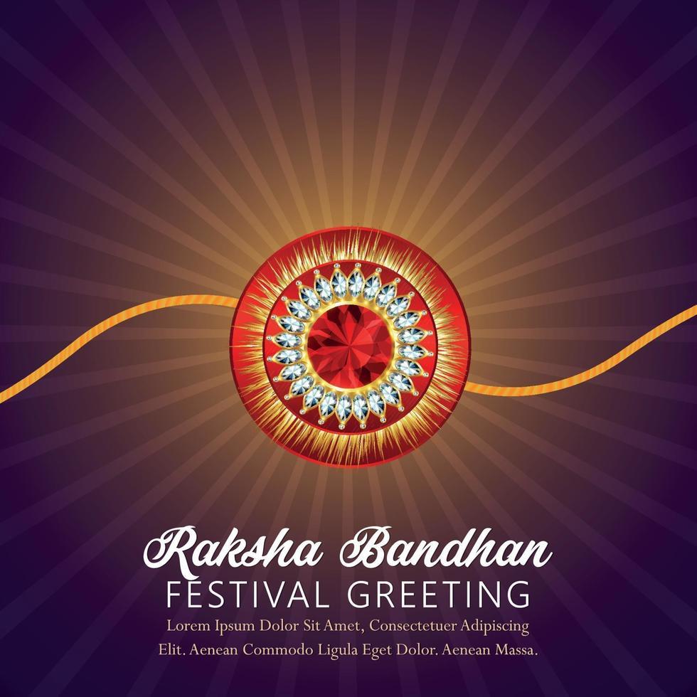 kreative Rakhi des indischen Festivals, glückliche Raksha Bandhan Feier Grußkarte vektor
