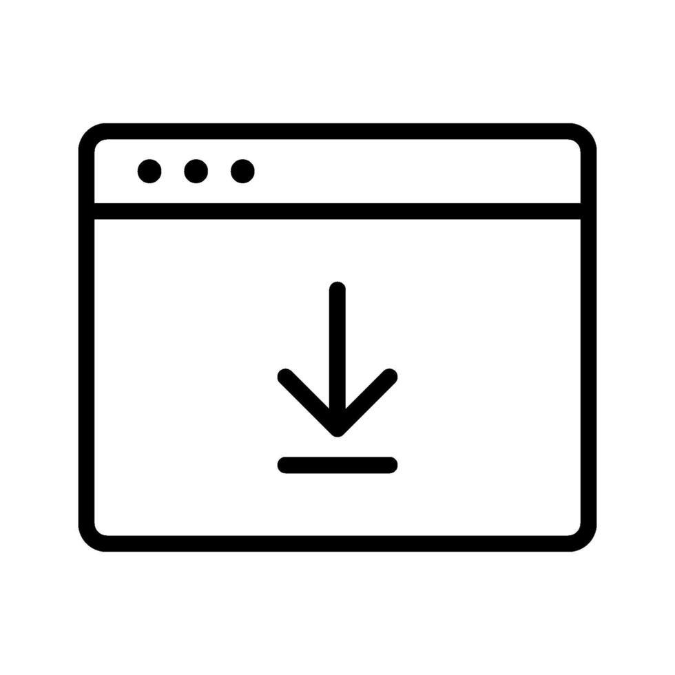 webbläsarens nedladdningsikon vektor