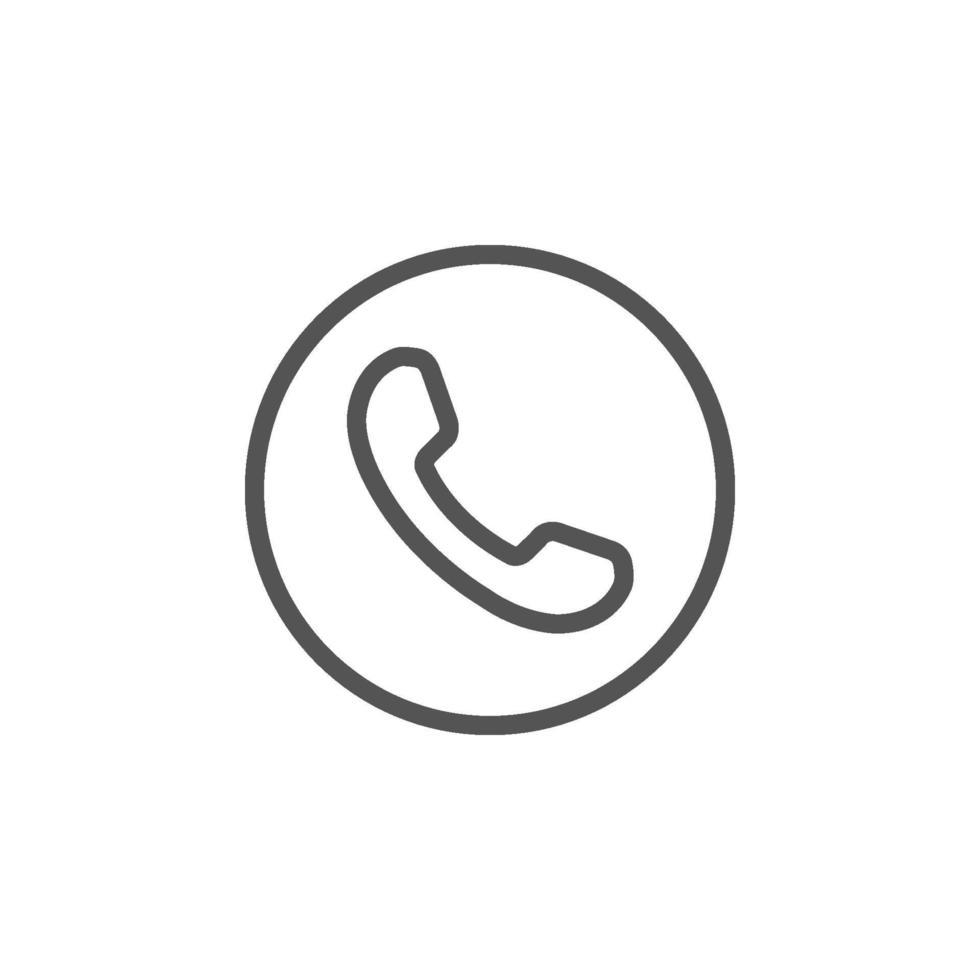 telefon ikon platt stil isolerad på vit bakgrund vektor