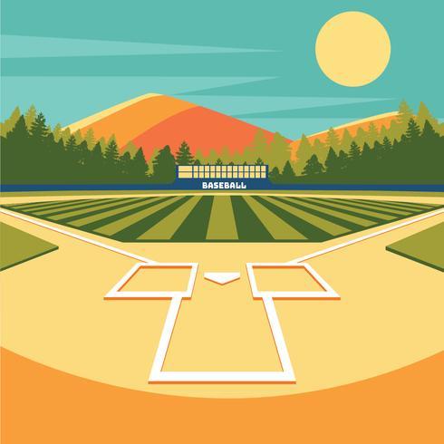baseball park vektor design