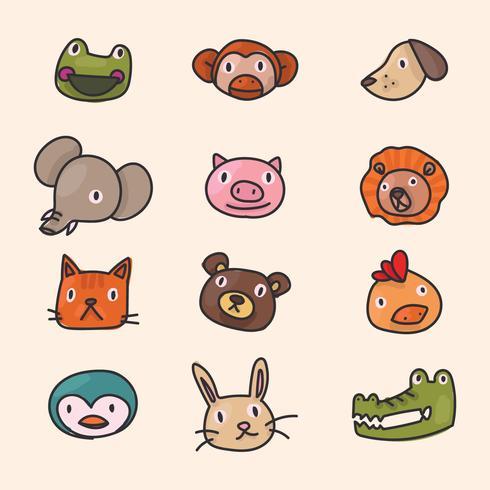 Animal Freunde Gesichter vektor
