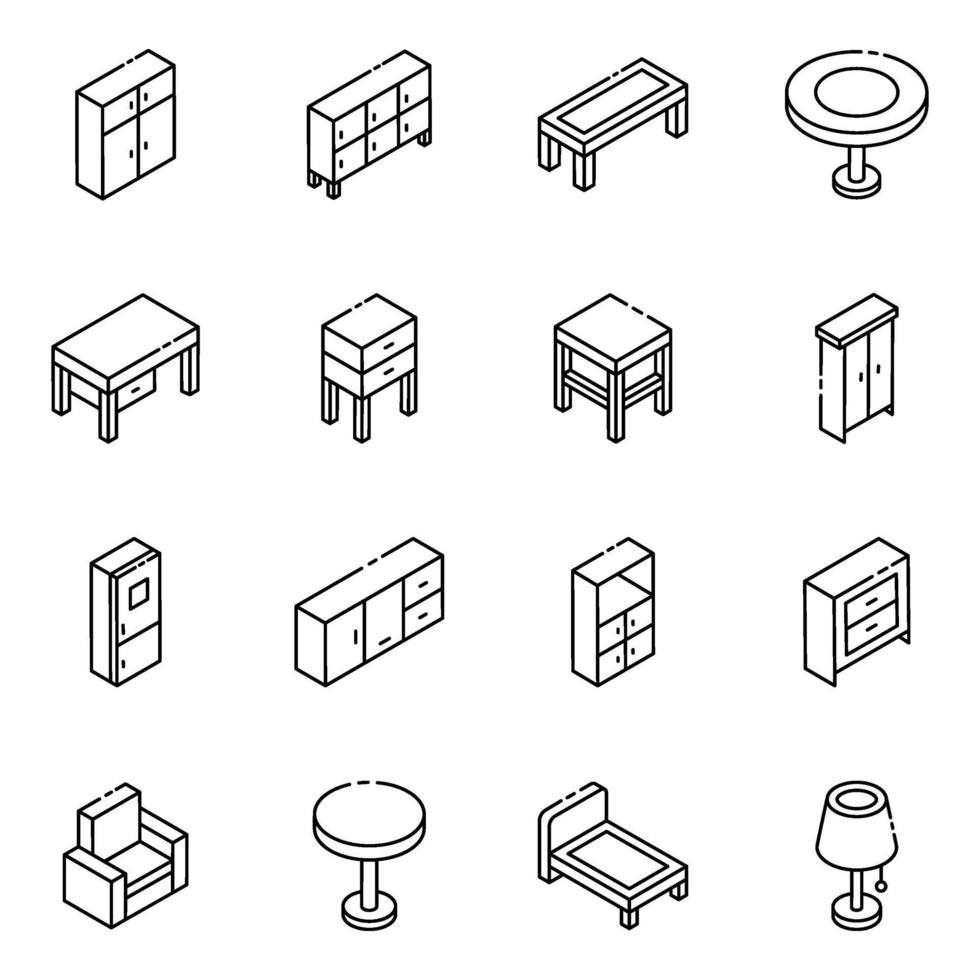 möbler och element vektor