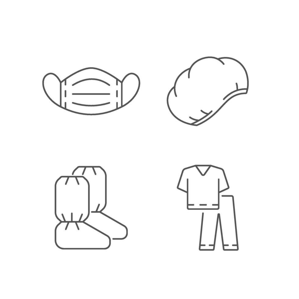 Lineare Symbole für medizinische Einweggeräte vektor