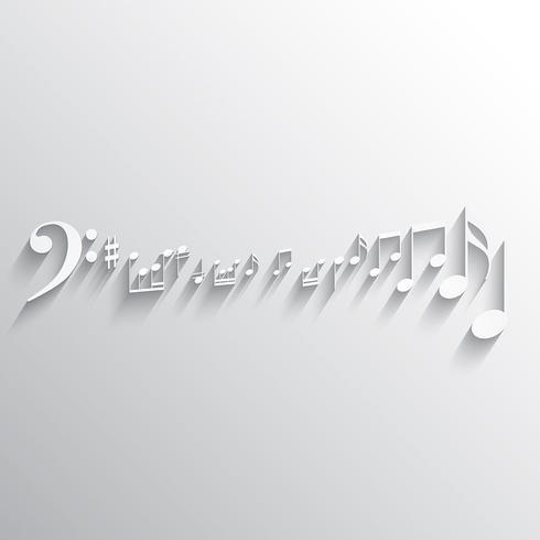 Musiknoten Hintergrund vektor