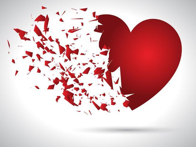 Exploderande hjärta vektor