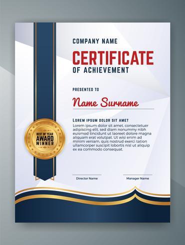 Multipurpose Professional Certificate Template Design. Vektor il