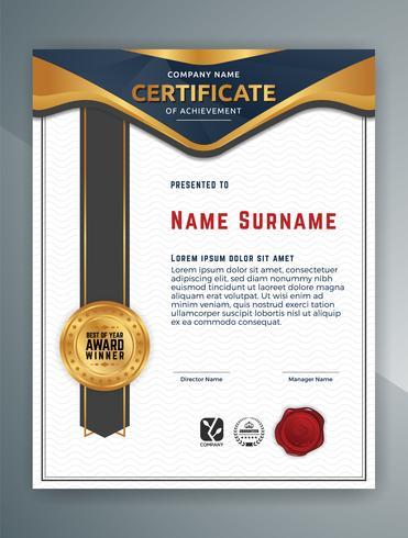 Mehrzweck Professional Certificate Template Design. Vektor il