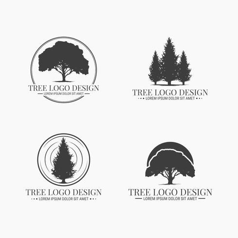 Baum-Logo-Vektor-Sammlung vektor