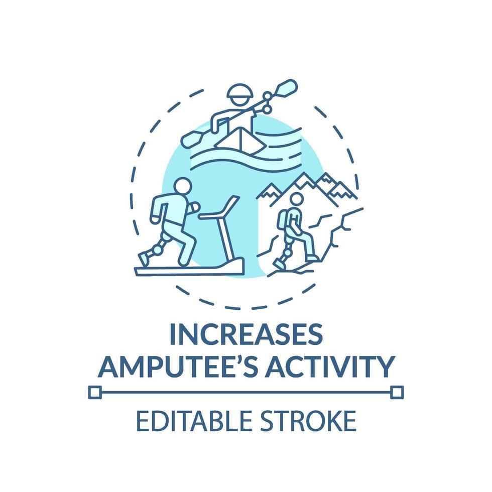 zunehmendes Konzept des Amputiertenaktivitätskonzepts vektor