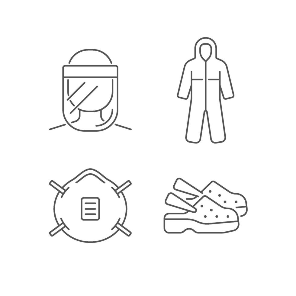 lineare Symbole für medizinische Geräte eingestellt vektor