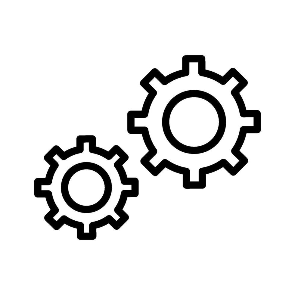 Konfigurationsvektorsymbol vektor