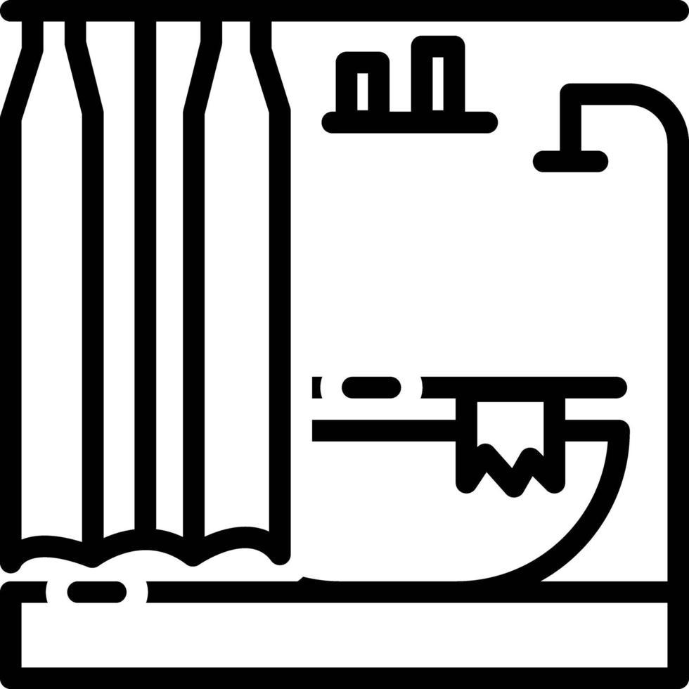 linje ikon för badrum vektor