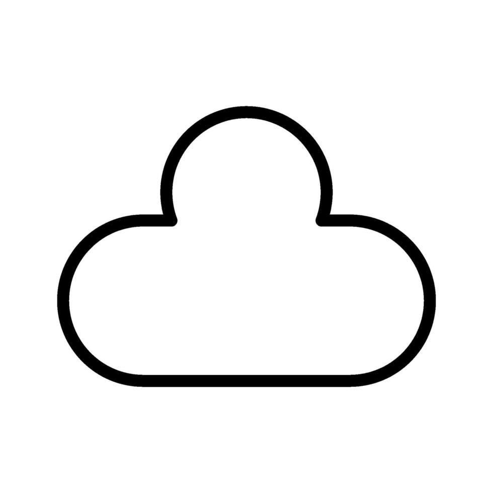 moln vektor ikon