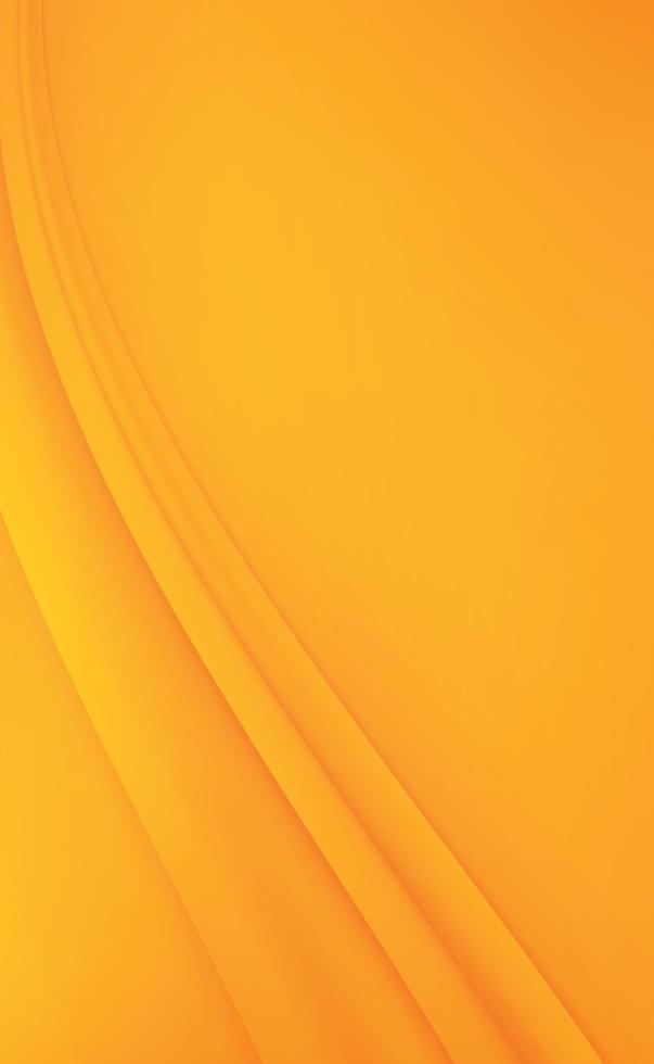 abstrakt orange och gul bakgrund med vågiga linjer - vektor