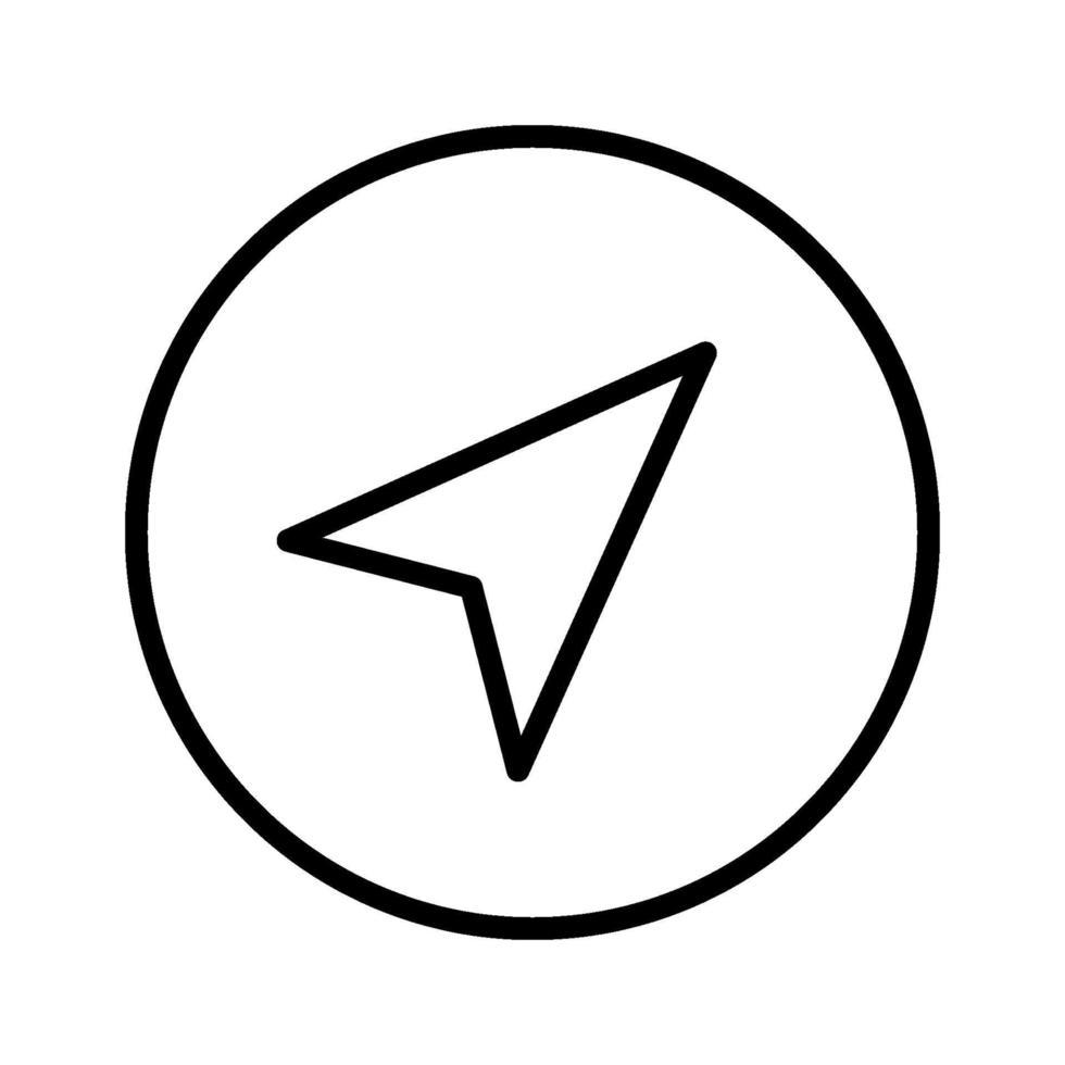 Navigationsvektorsymbol vektor