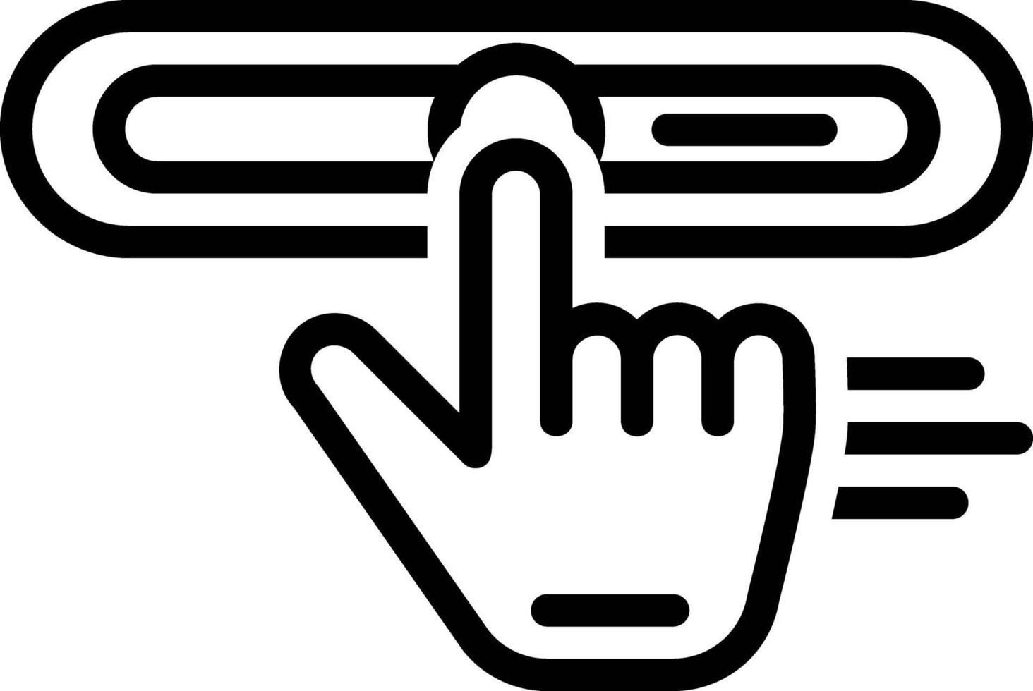 linje ikon för dra vektor