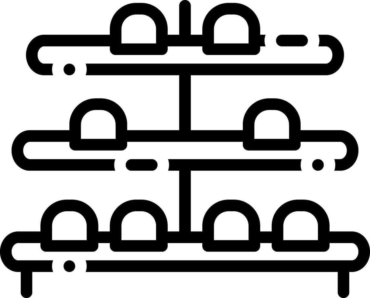 Liniensymbol für Schuhregal vektor