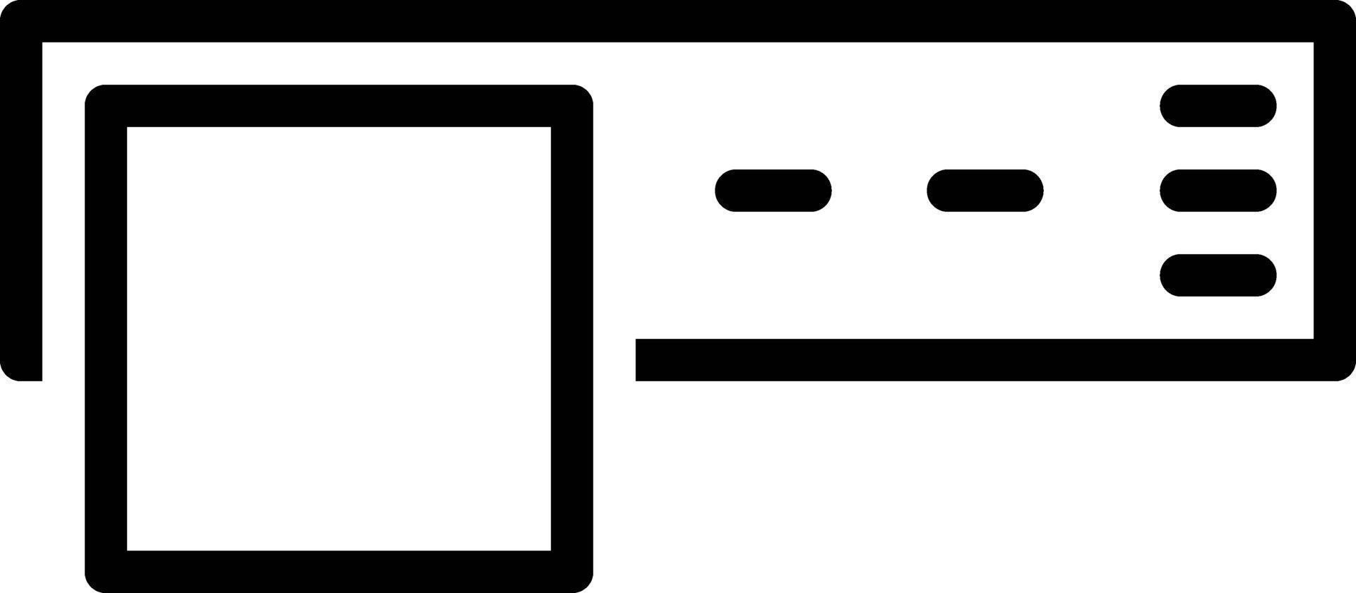 Liniensymbol für gestapelte Header vektor