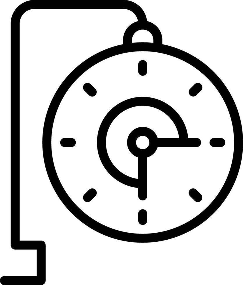 linje ikon för realtid vektor