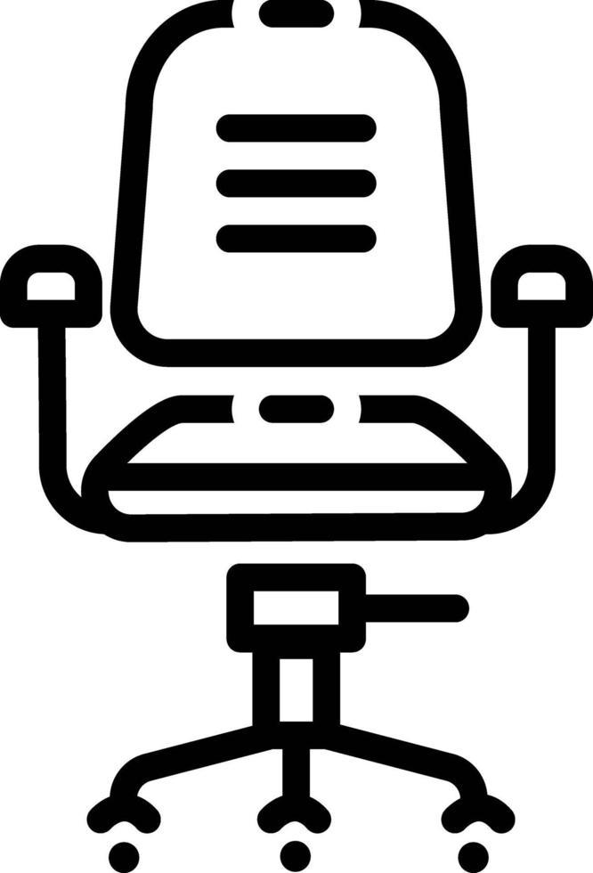 linje ikon för stol vektor