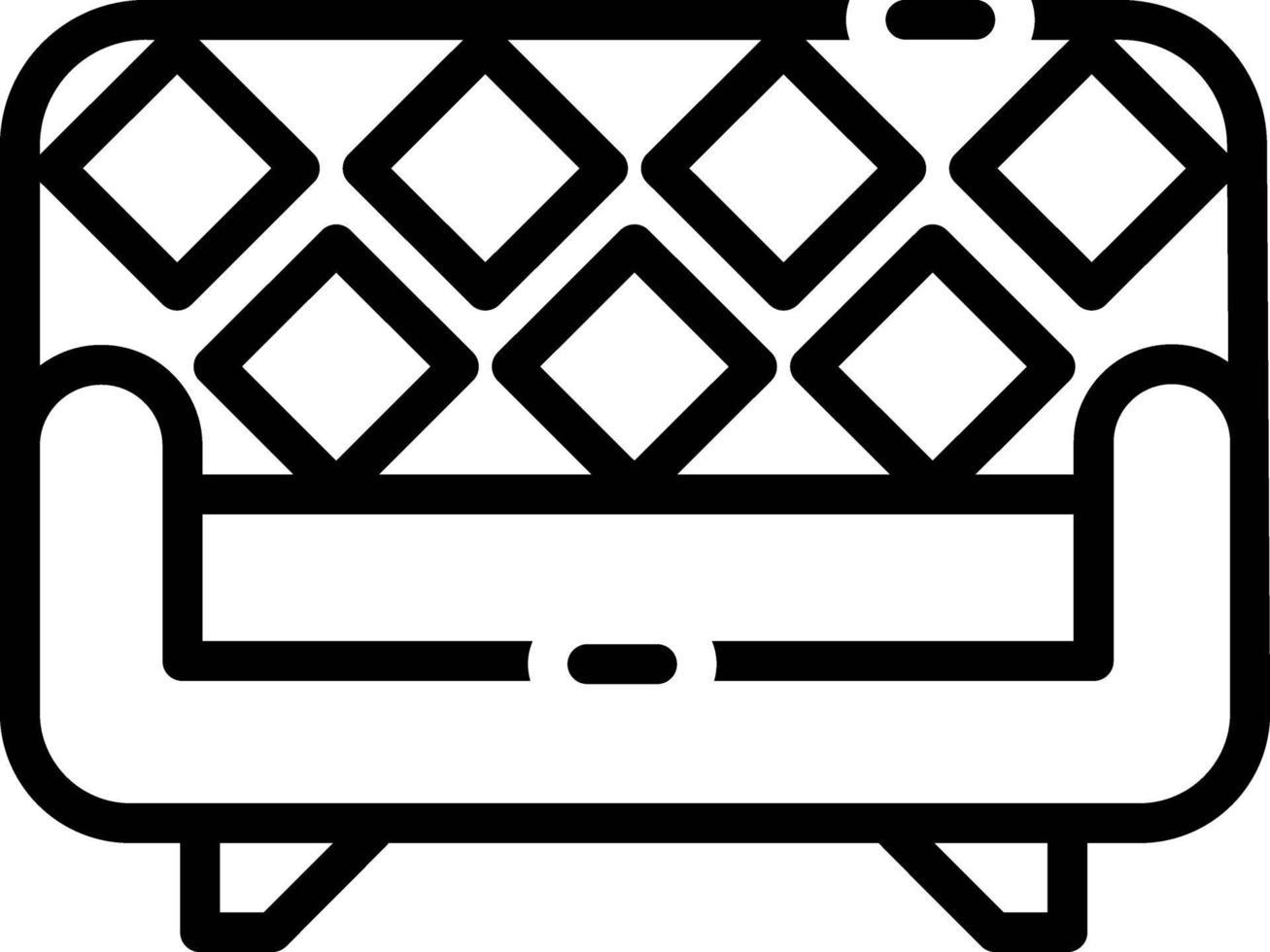 linje ikon för soffa vektor
