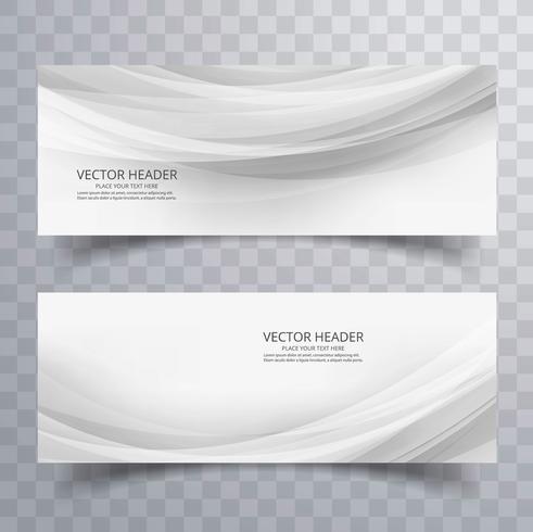 Abstrakte schöne graue Geschäftswellen-Fahnen entwerfen vektor
