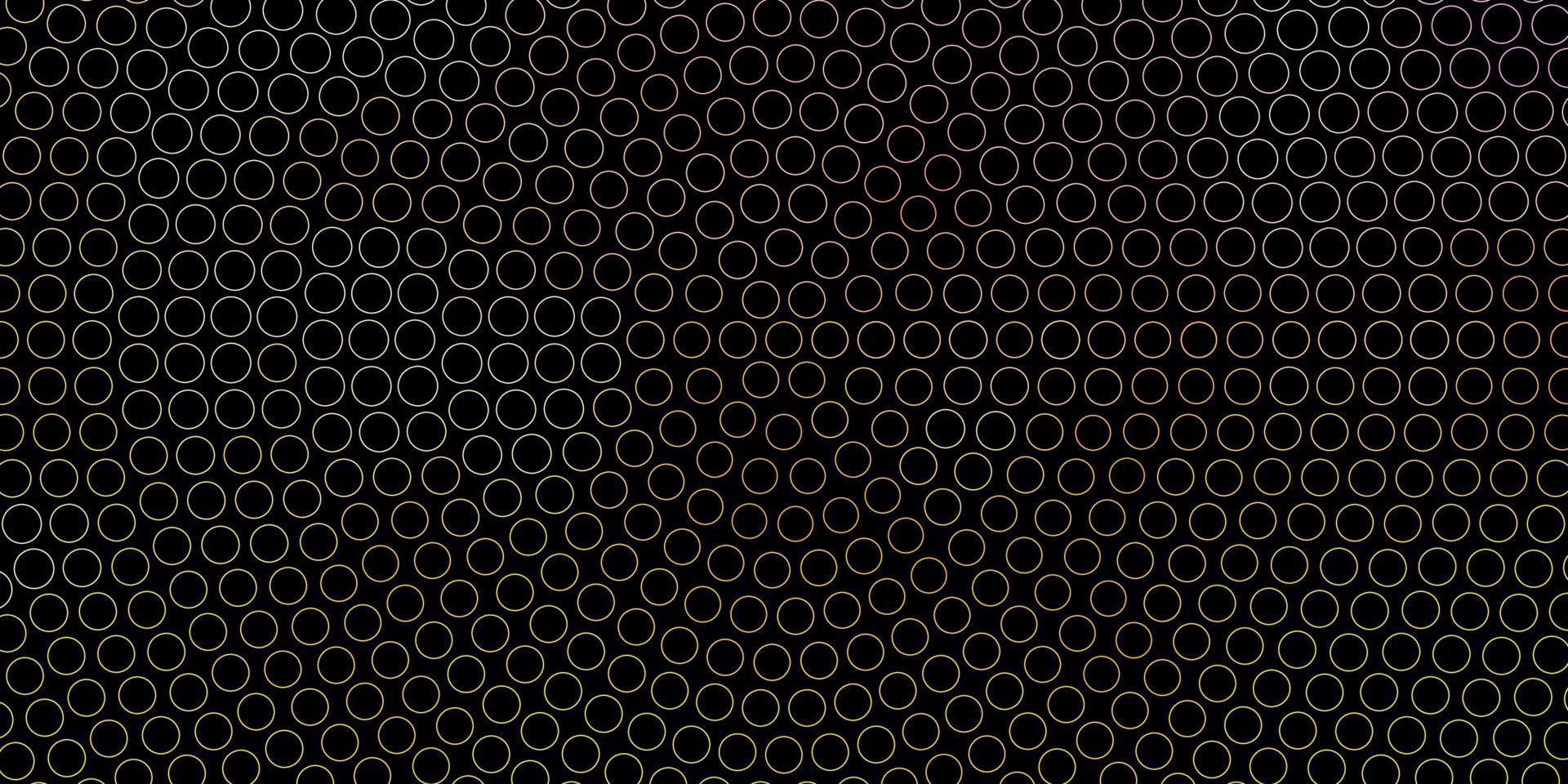 mörkrosa, gul vektorbakgrund med fläckar. vektor