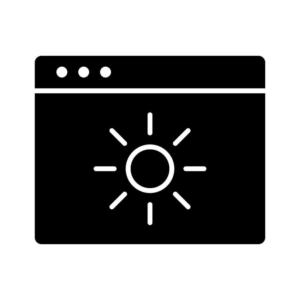 ljusstyrka vektor ikon
