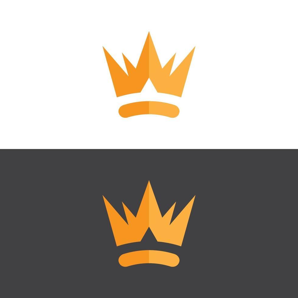 elegant krona logotyp i guld vektorbild vektor