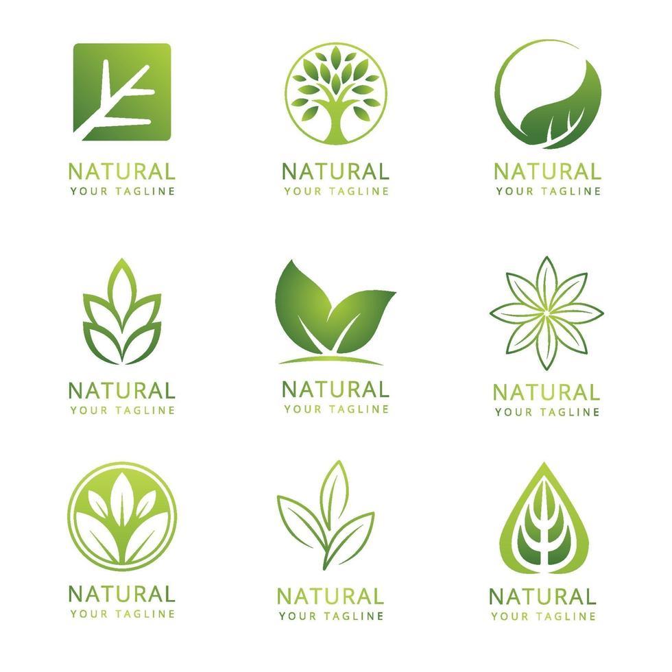 grön naturlogotyp vektor
