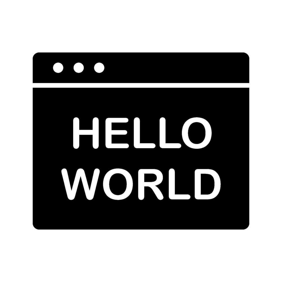 hej världsikonen vektor