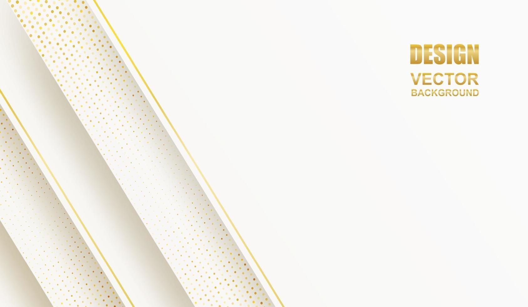 abstrakt. geometrisk form vit-guld bakgrund. ljus och skugga .vektor. vektor