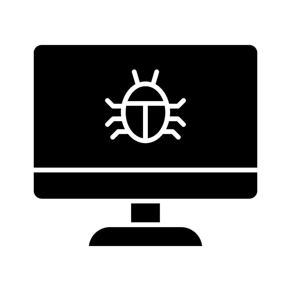 dator bugg ikon vektor
