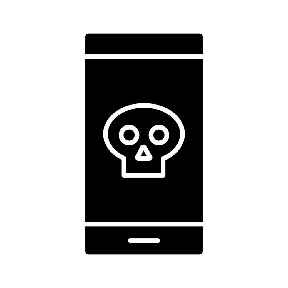 mobil hackad ikon vektor